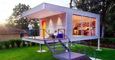 裏庭にお洒落な書斎&スモールオフィス「A Modern Spin on a Home Addition」