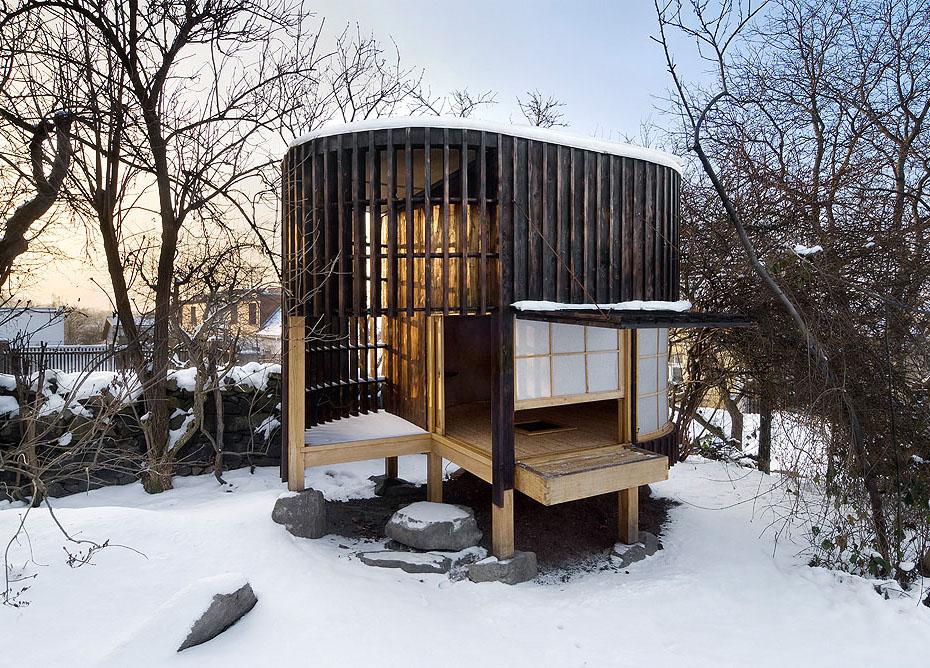 国境を越え新しい形へと生まれ変わった茶室/Teahouse in the garden