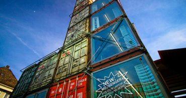 26mのコンテナタワー「FREITAG SHOP Zuerich」