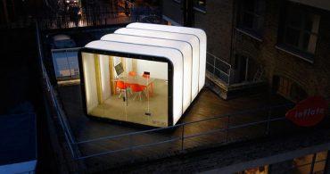 屋上やバルコニーを有効活用!膨らませるモバイルオフィス「Roof Pod」