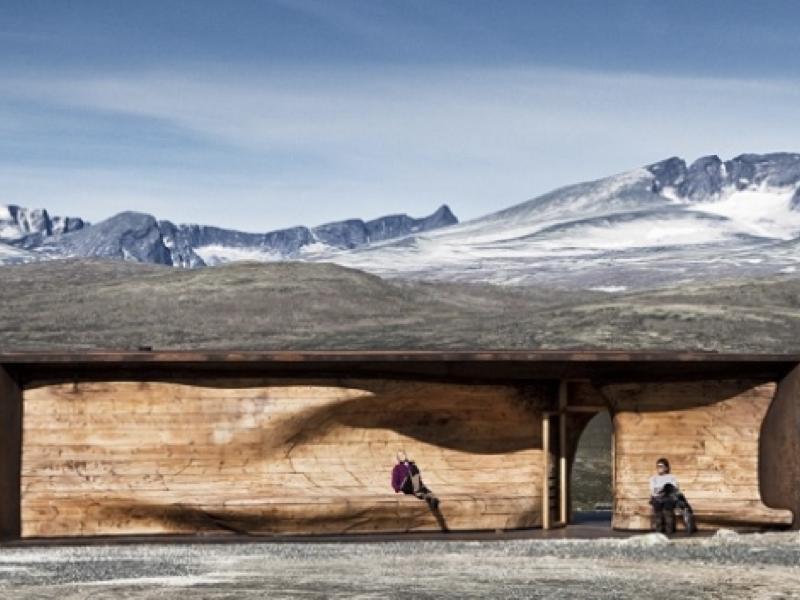 ノルウェーの絶景を堪能するスタイリッシュな山小屋・休憩場