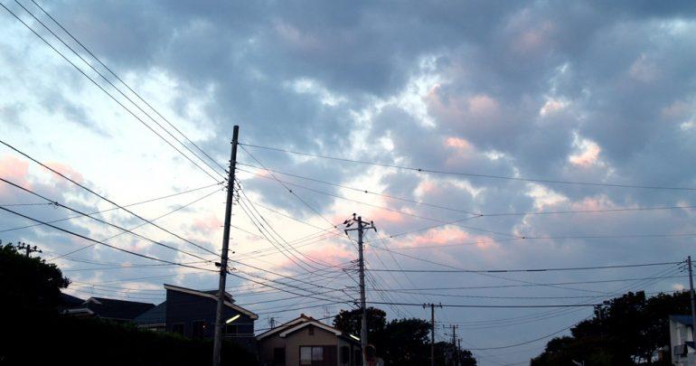 その頃の自宅前、朝7時