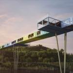 廃棄用のコンテナがなんと橋に!「ECOntainer Bridge」