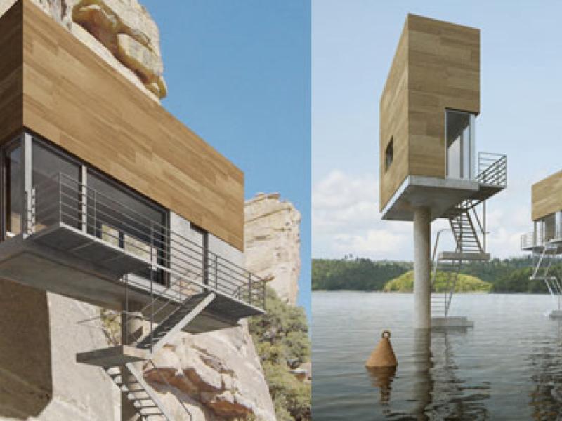 都会でも山でも海でも建てられる!?看板のようなスモールハウス「Single Hauz」