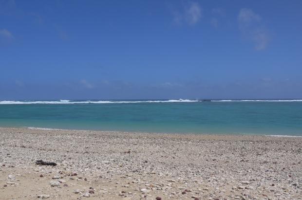 ただひたすらに広がる、何もないビーチと海。