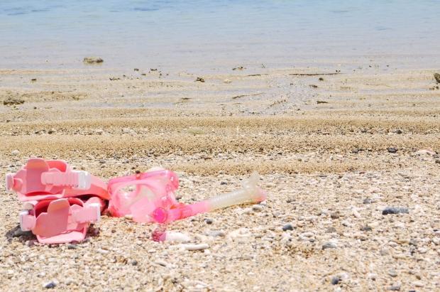 島であった方がいいと思うもの。いつでも海を楽しむためのシュノーケルグッズ。