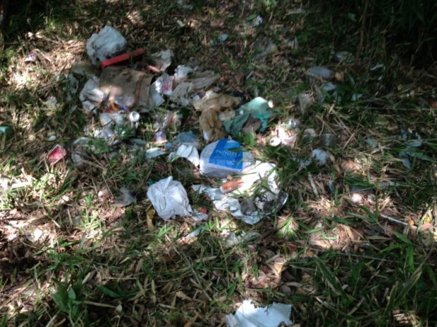 道路から投げ捨てたと思われる生活ゴミや、 不法投棄の洗面台なども出てきます。
