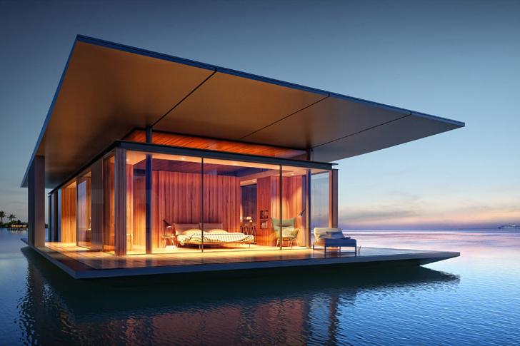 気が向いたら海へ潜ろう!水上モバイルハウス「Floating House」