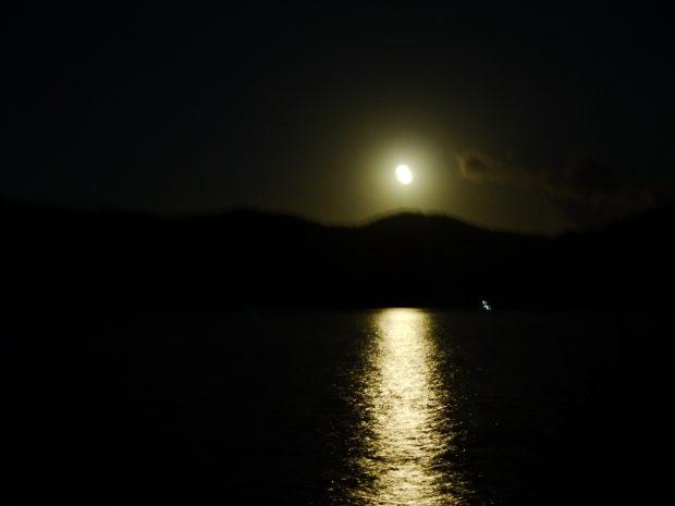 街灯は少ないけれど満月の晩はどこまでも海が光り輝く場所です。