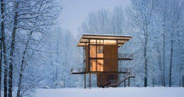 森林浴が満喫できる隠れ家「デルタ・シェルター」