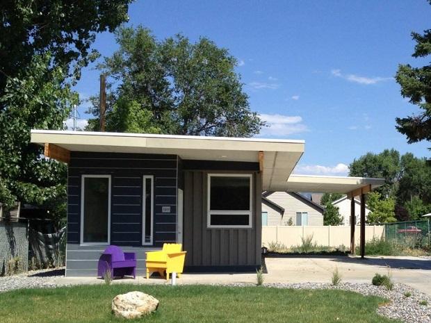 低所得者向け、貨物用コンテナのモダンな暮らしかた「Sarah House」