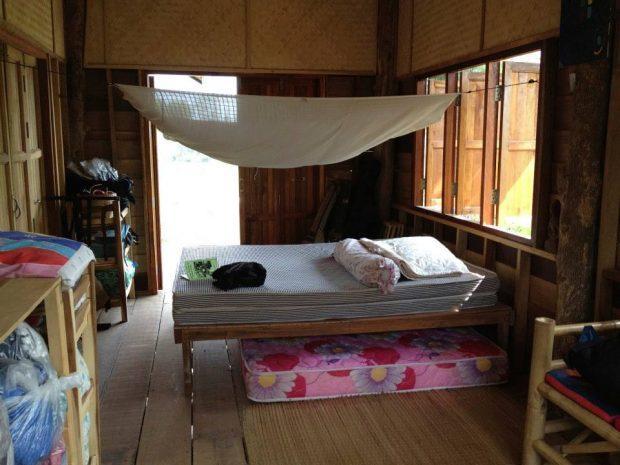 滞在していた部屋。朝の風が気持ちよかった