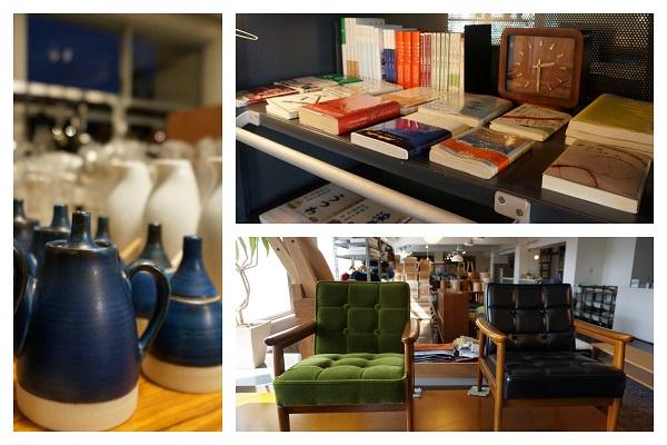 家具、雑貨、食器や雑誌まで。どのコーナーを見てもそこにストーリーが立ちあがってきます。