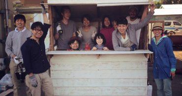 YADOKARIサポーターズ内で発足した「小屋部」活動第1弾の小屋完成!
