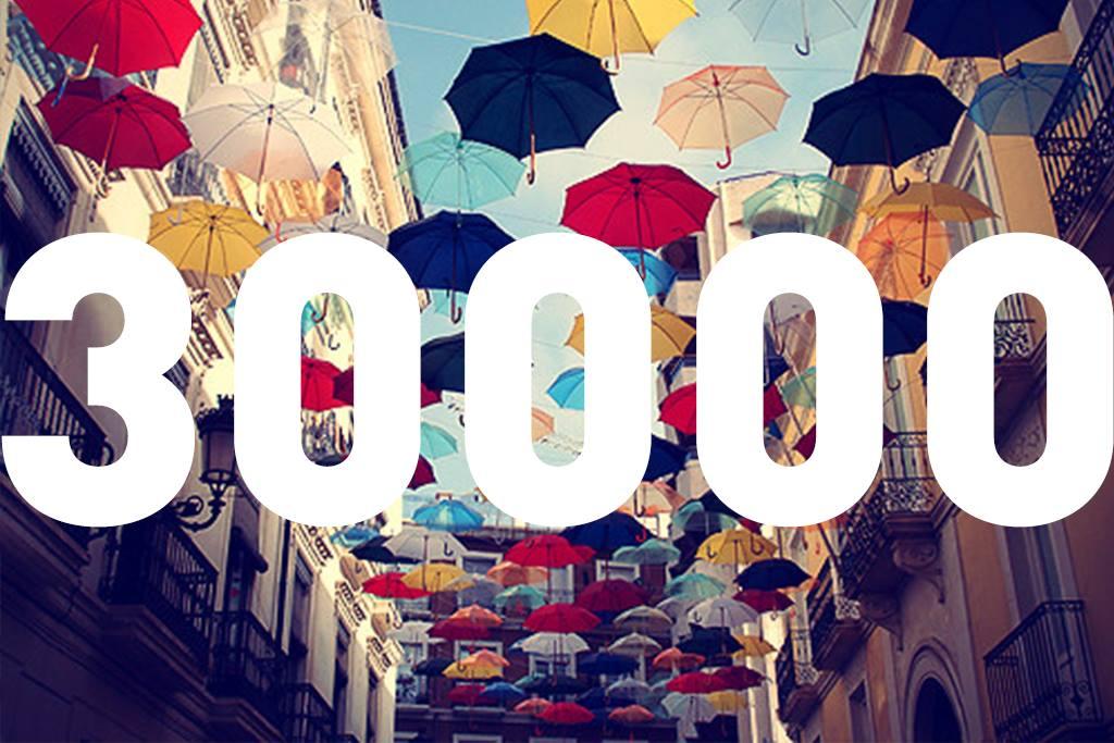 YADOKARI Facebookページのいいね!が 「30,000」を突破しました!