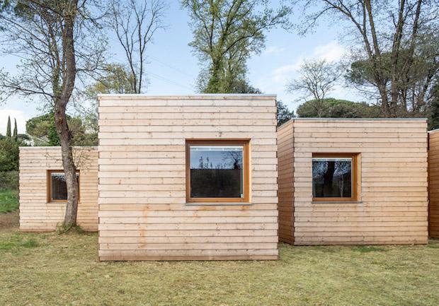 6つの小さな小屋が合体! エネルギー効率の良い家「Casa GG」