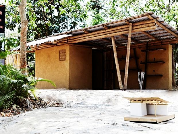 天然素材だけで造られた、森の中の小さなキオスク「sustainable bamboo kiosk」