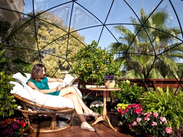 温室でくつろぐという発想から生まれた快適空間「garden igloo」