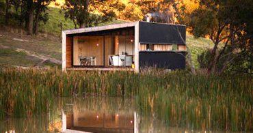 自然に溶け込んで自立する「Pump House」
