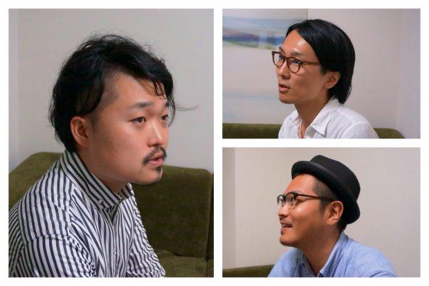 左から時計回りに内沼晋太郎氏 YADOKARIウエスギセイタ、さわだいっせい