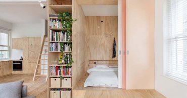家族のカタチに合わせて、合板で区切る住まい「flinders lane apartment」