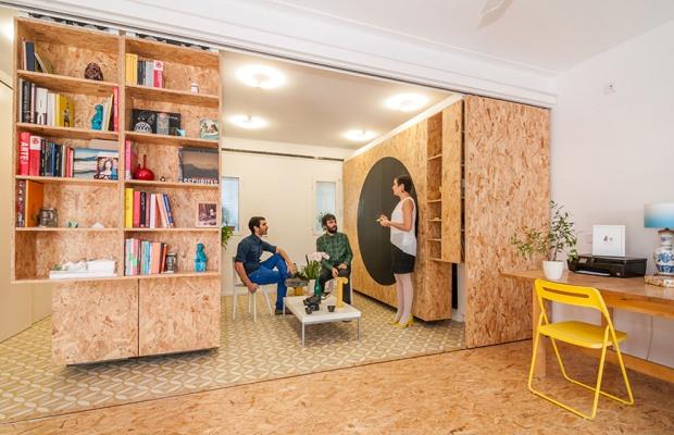 3つの棚でワンルームが変幻自在!舞台装置のような家「All I Own House」
