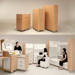 パーティションにもなる優れモノ!折りたためちゃう家具「Foldaway Furniture」