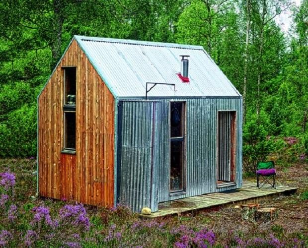 森の中に佇む芸術家のための小さな別荘「Inshriach Bothy」