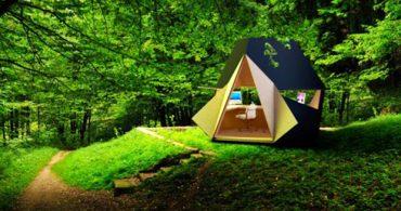組み合わせ可能な、立方体のホームオフィス「Tetra Shed」