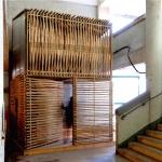 スケルトンでもパーソナルな空間を確保、竹を使用した家「Bamboo Micro Housing Proposal 」
