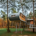自然と建築との対話をデザインへ「A Modern Treehouse in Belgium」