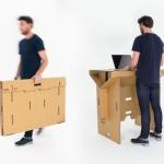ノマドワーカー必見「Refold's Portable Cardboard Standing Desk」
