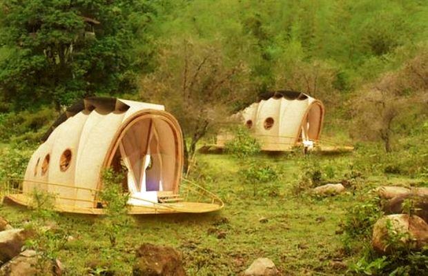 ホテルの快適さとエコの両立、テント型次世代リゾートヴィラ「The Looper」