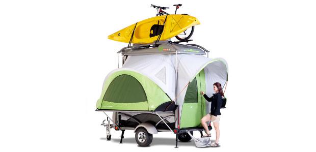 どこにでもテントが張れるキャンピングトレーラー「Sylvan Go」