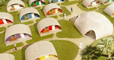 構造は住まいを規定する。風船のようなお家「Balloon-Formed Housing」