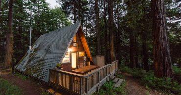 世間から遮断される贅沢、三角形の別荘「A Frame Cabin」