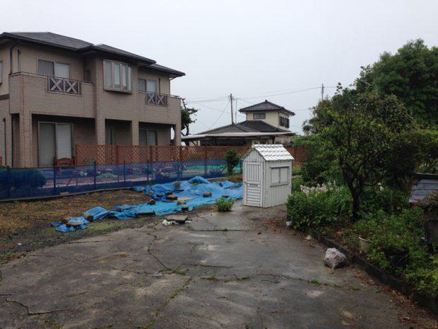 2014年5月26日 福島県いわき市で津波で浸水して取り壊した住宅跡地を借りた