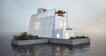 大洪水でも大丈夫、水に浮く家「Floating House」