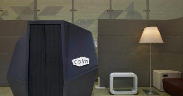 オフィスで快適な睡眠を、昼寝用カプセル「CalmSpace」