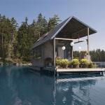 水上生活に必要なのはボートのカギ!!水上のスモールハウス「Floating Tiny House」