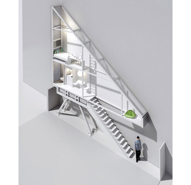 世界再薄?!幅わずか1.2mの隙間に建つ三角タイニーハウス「Keret House」