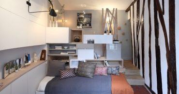 ミニマルな12㎡のお部屋に、パリの遊び心をギュっと凝縮!「12㎡ micro-apartment in Paris 」