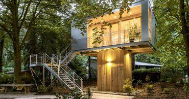孫へのプレゼントはツリーハウス、モダンでクールな「Urban Treehouse by Baumraum」
