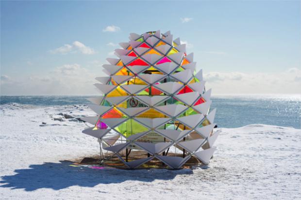 真冬のビーチにおいでよ!ウィンターステーション「スノーコーン」