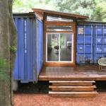 外は可愛く、中はスタイリッシュに!港の不要コンテナを家に!「Artist's Shipping Container Home and Studio」