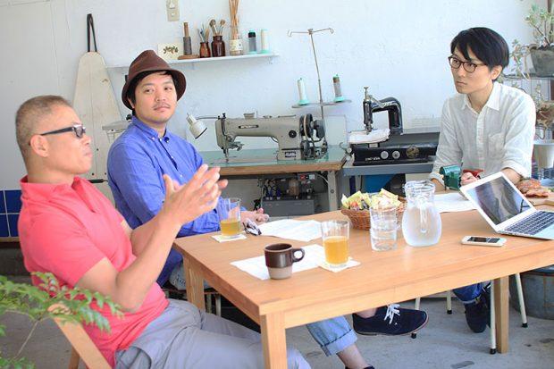 左から、桐谷晃司さん、YADOKARIさわだ、YADOKARIウエスギ