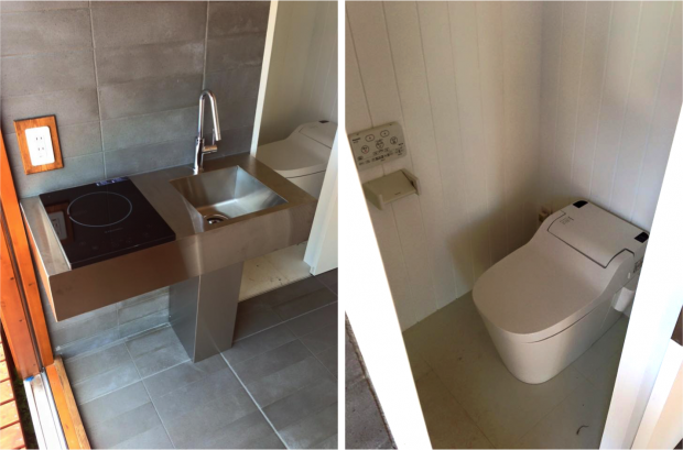 水回りもスタイリッシュなIHキッチン、タンクレストイレを完備。