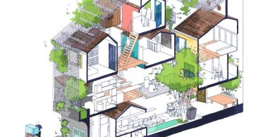 今日はどこで過ごす?小さな部屋と中庭が集まって出来た家「SaigonHouse」