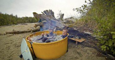 テントみたいに畳んで持ち運べる露天風呂で、どこでも温泉気分!「Nomad Collapsible Tub」