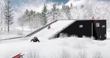 暮らしに遊びを!屋根でそり滑りができる家「Pulkabacken house」